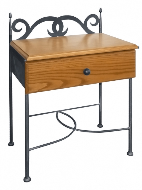 Night Table Cartagena With Drawer Forged Furniture Iron Art