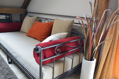 Daybed Romantic black iron hand forged