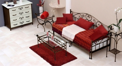 Daybed with trundle wrought iron