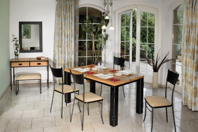 Dining table CARCASSONNE divided top